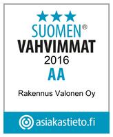 Suomen Vahvimmat 2016 AA Rakennus Valonen Oy